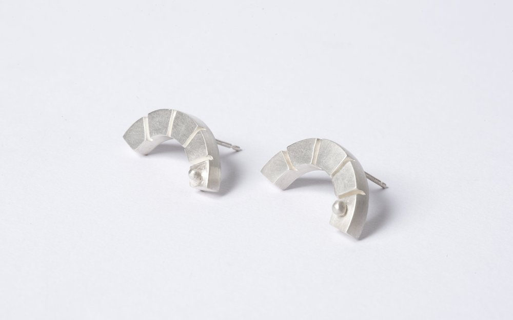 Notched Arc Studs £70