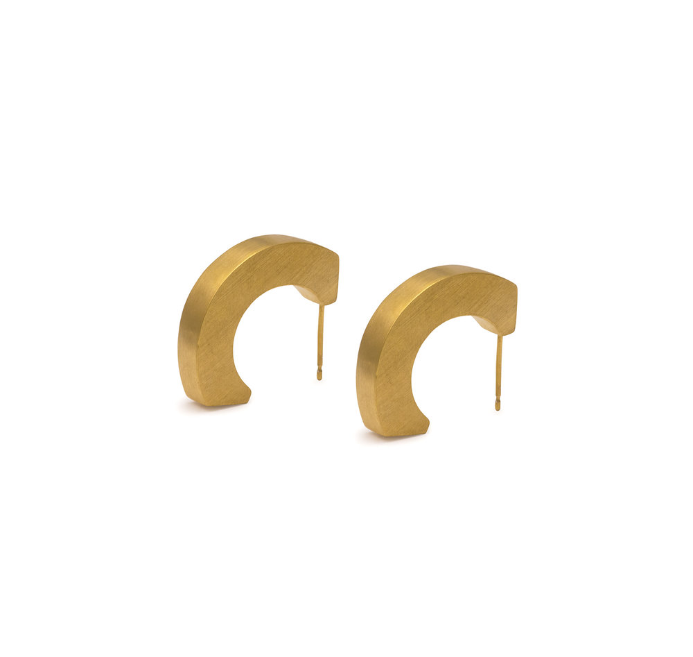 Gold Statement Studs £140