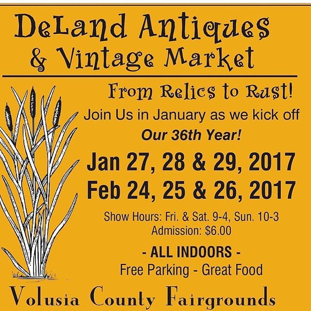 Don't miss the show this weekend!! @delandantiquesvintagemarket #vintageshow #floridavintage #antiqueshow #antiques #vintageclothing #vintageforsale #delandantiquevintageshow