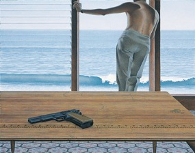 Alex Colville,  Pacific , 1968, acrylic on hardboard. Copyright A.C. Fine Art Inc.