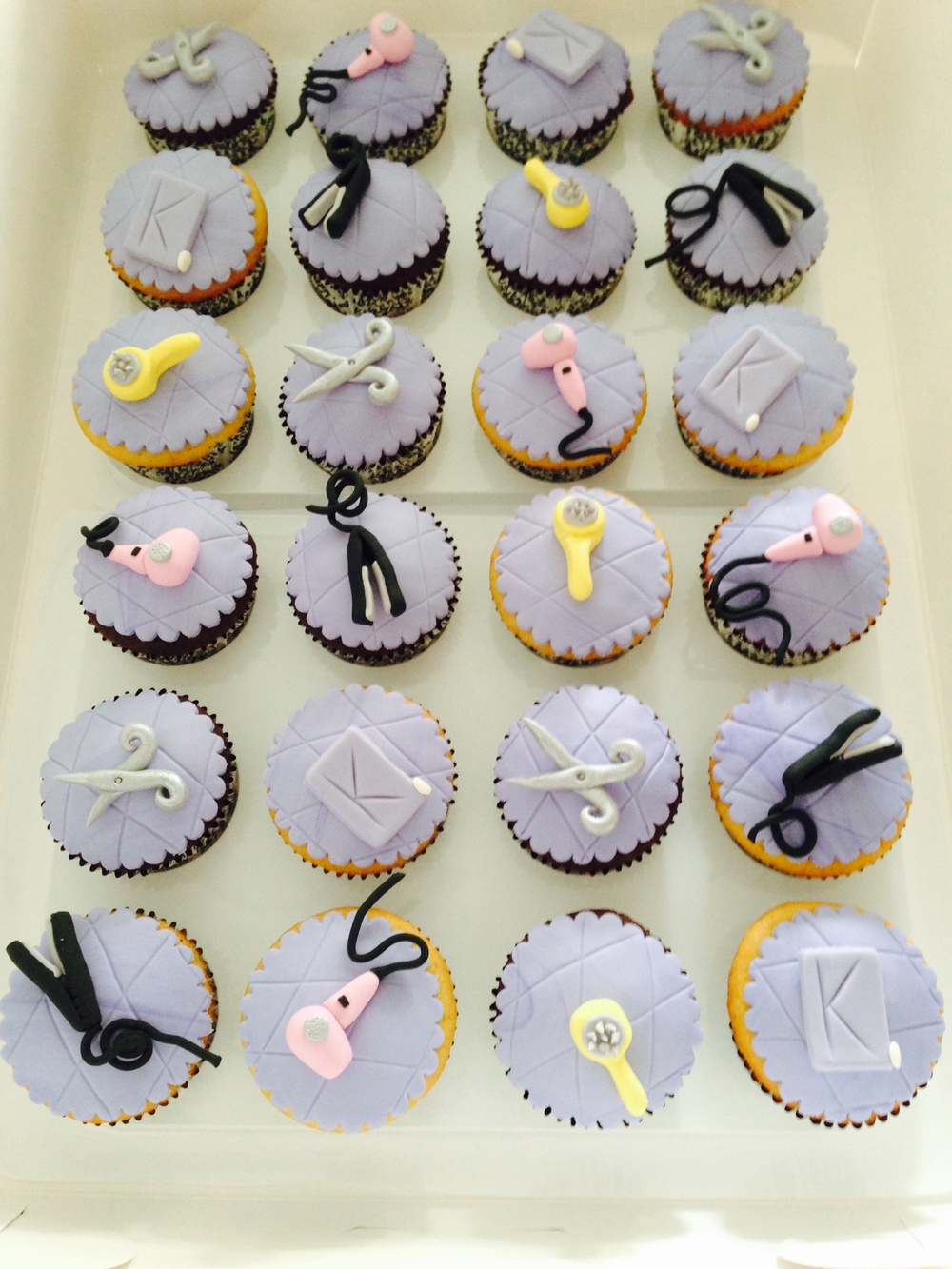 Salon Themed Cupcakes
