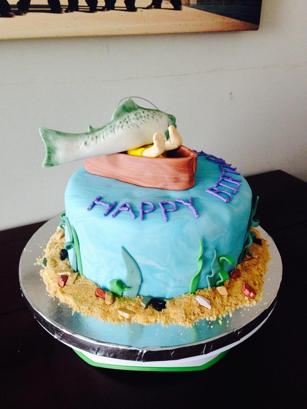Squished Fisherman Cake