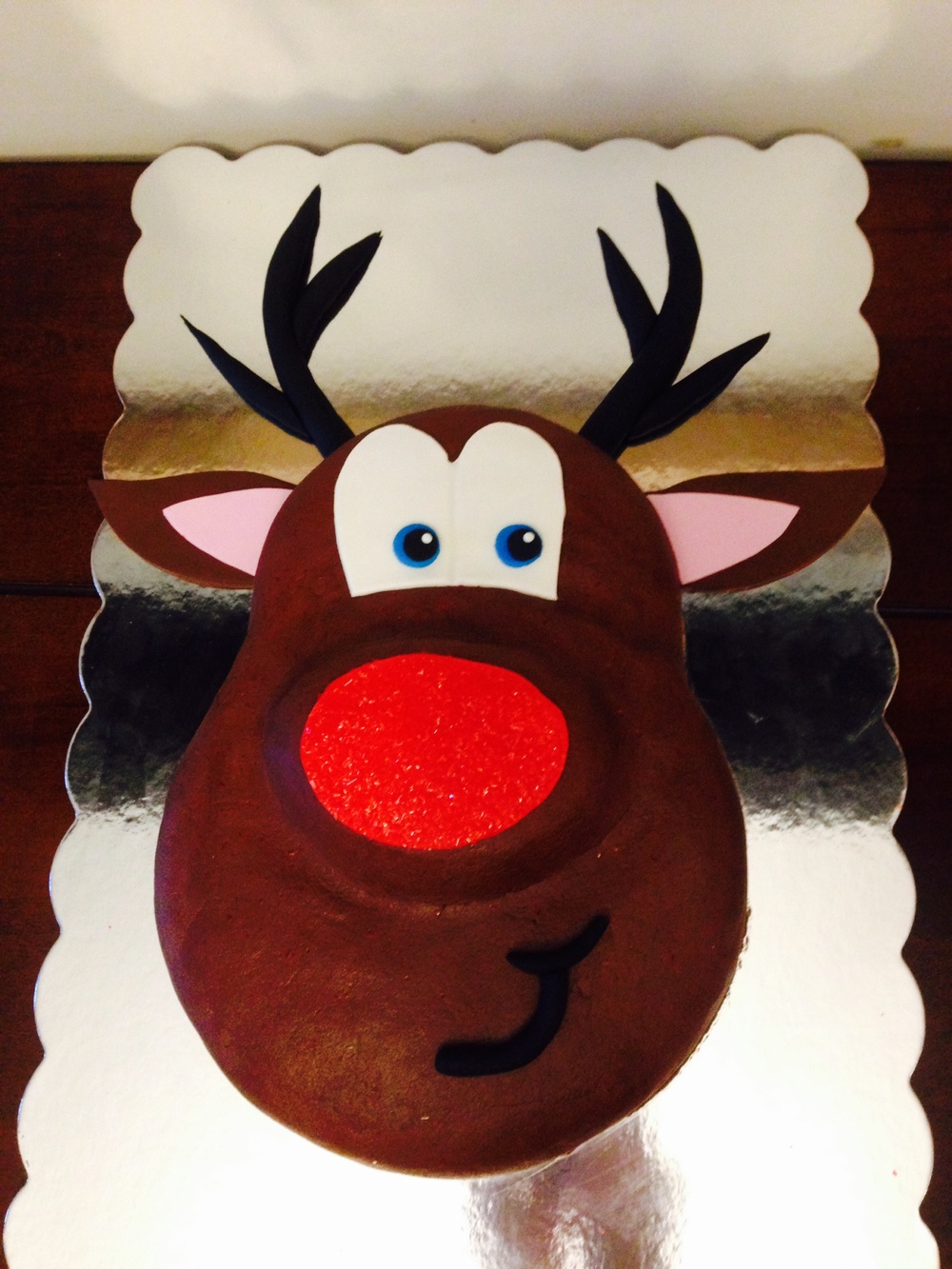Rudolf the Red Nosed Reindeer Cake