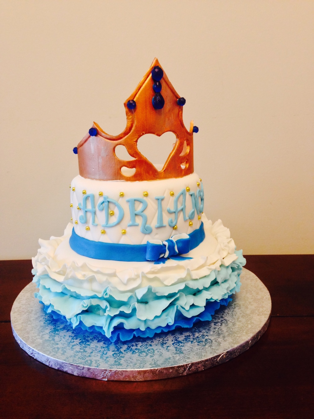 Blue & Gold Princess Cake