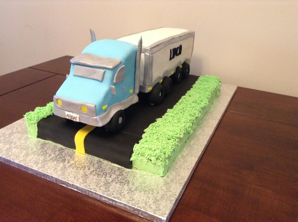 Semi-Truck Cake