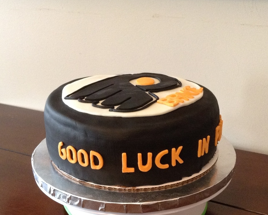 Philly Flyers Puck Cake