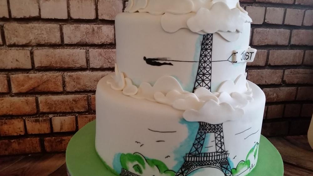 Superheroes In Paris Wedding Cake Rain City Cakes