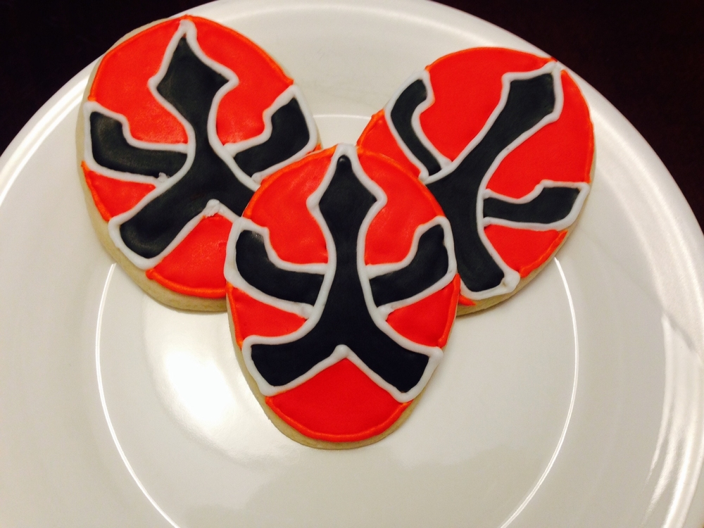 Red Power Ranger Cookies