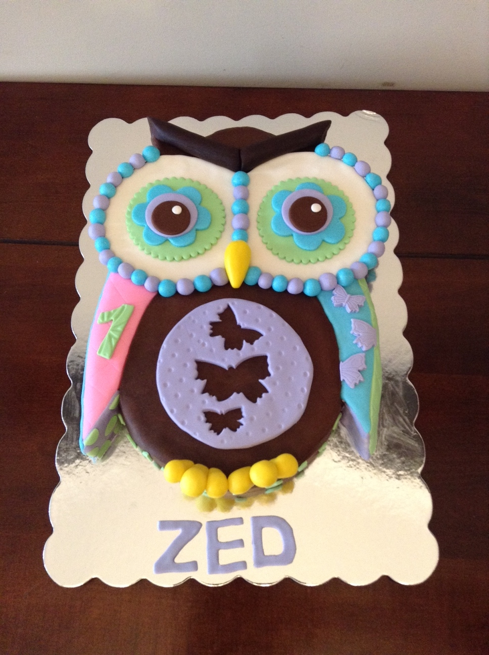 Quilted Owl Cake Top