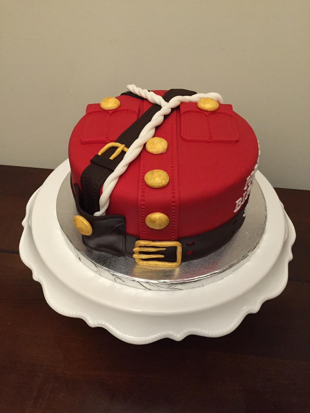RCMP Red Serge Cake