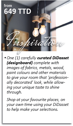 The Inspiration DiDasset provides inspiration for the decorator who needs a bit of help coordinating materials and pulling the look together. You can shop at your favourite locations and sources to replicate the mood of your DiDasset. Interested in an Inspiration DiDasset? Click here and let's get started.