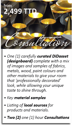 The Consultation DiDasset allows the perfectionist in you to achieve your decorating goals through a more collaborative approach. Not only do we set the scene and source the materials, but we also help you solve your biggest design and decorating challenges. From space planning to lighting design, we got you! Interested in a Consultation DiDasset? Click here and let's get started.