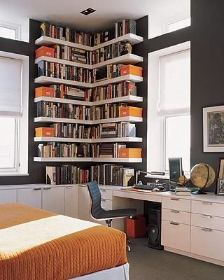 Storage, sleeping and work zones are clearly defined (apartmenttherapy.com)