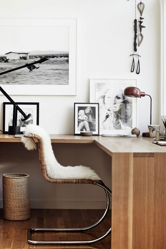 Topping this chair with a faux fur, stole or rug adds some luxurious texture to glam up the space.