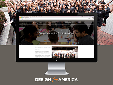 Design for America Website - Redesigning the website for a national network of students and professionals leveraging design innovation for social good.
