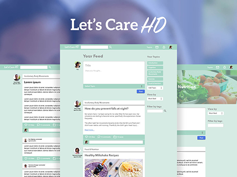 Let's Care HD - Designing a social network for caregivers of those with Huntington's Disease and other rare diseases.