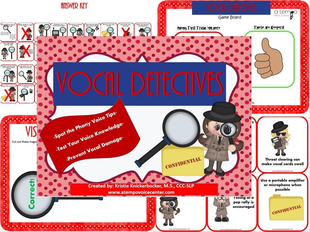 Voice Therapy Detectives  can improve your child's knowledge of healthy and harmful voice habits