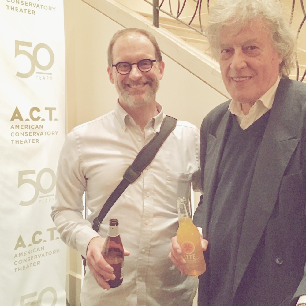 Over the years I've been lucky enough to perform in eight of Stoppard's plays. Here I am posing gratefully with him at the closing night party for The Hard Problem