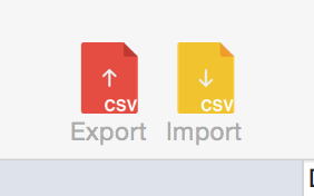 Export to CVS - Import from CVS toolbar buttons