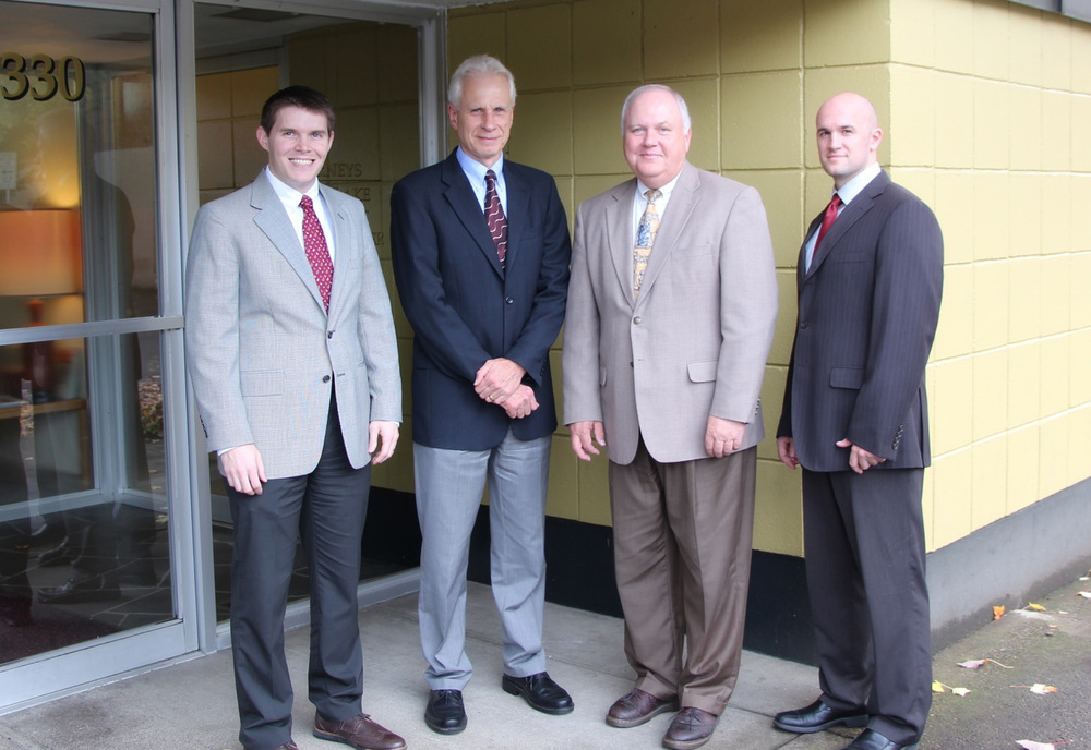 Attorneys | McMinnville, OR | Lake, Hart & Cooper | Brian Branch, Jerry Hart, Brent Lake and Joshua Cooper.