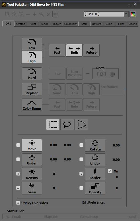 DRS Nova tool paletter