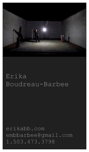 Erika BB business card design