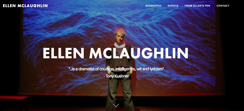 Ellen McLaughlin website design