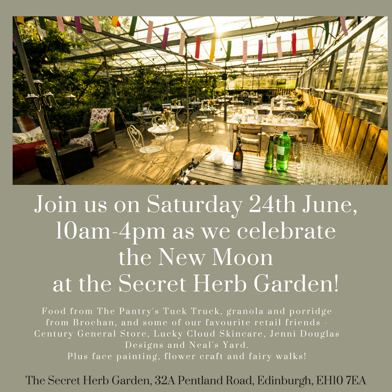 Secret Herb Garden Edinburgh New Moon Festival June 2017