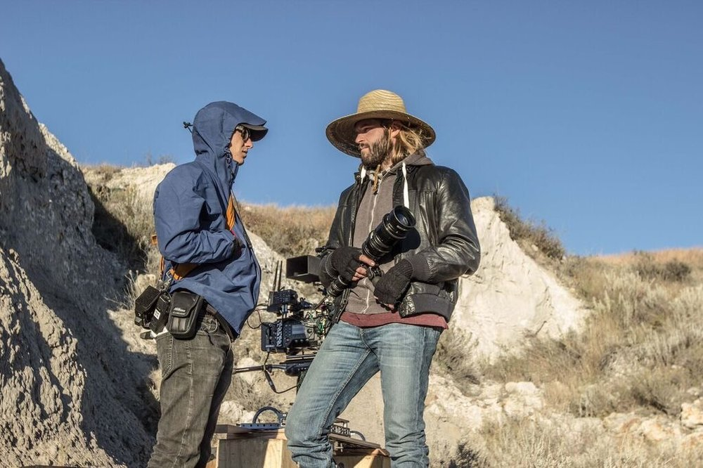 """On the set of """"Valley of Bones."""" 1st AC with DP Michael A. Lloyd."""