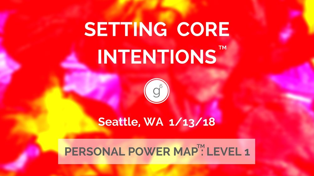 Personal Power Map (TM) : Setting Core Intentions (TM) Level 1