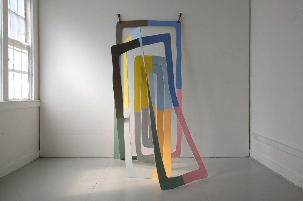 Joseph Ferriso. Spiral Doorway, 2017. Acrylic on plywood.