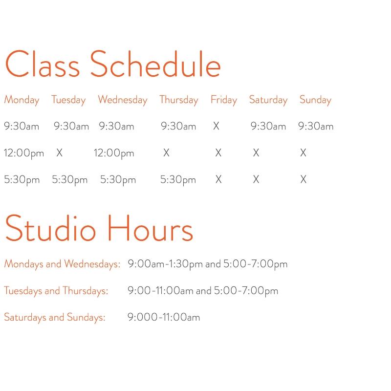 b yoga schedule