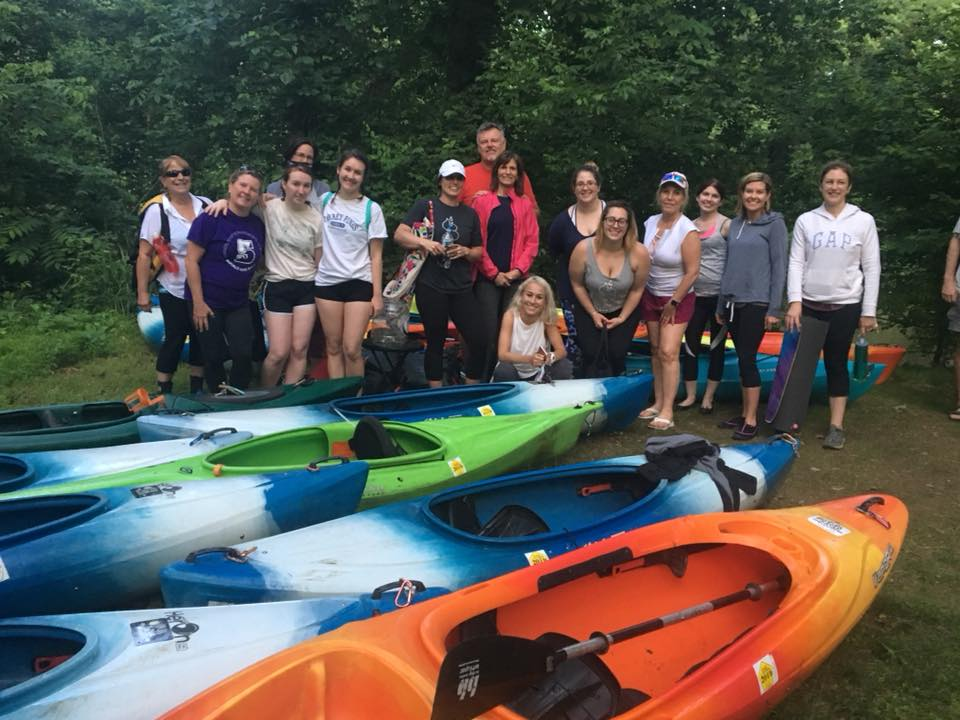 Yoga and Kayaking! - June 4, 6-8:30p; July 2, 6-8:30p; August 6, 5:45-8:15p; September 3, 5:30-8pSTUDIO B and Cocoa Kayaks of Hershey have partnered to bring you a super fun outdoor package! Join us for land-based yoga and easy recreational kayaking along the sparkling waters of the gentle Swatara Creek.We will begin with outdoor yoga designed to bring awareness to your body and breath, then proceed into the water on a relaxing, guided float down the Swatara Creek for 2.5 miles. Finish the experience with a floating meditation. Your yogi guide will also join you on the kayak portion.Enjoy a total mind, body, and soul connection to nature. No experience necessary. Please bring: your mat, water. Included: kayak, paddle, life jacket, waterproof container, shuttle, instruction and kayak guide.Cost: $45.00 per person Online booking available: cocoakayak.com