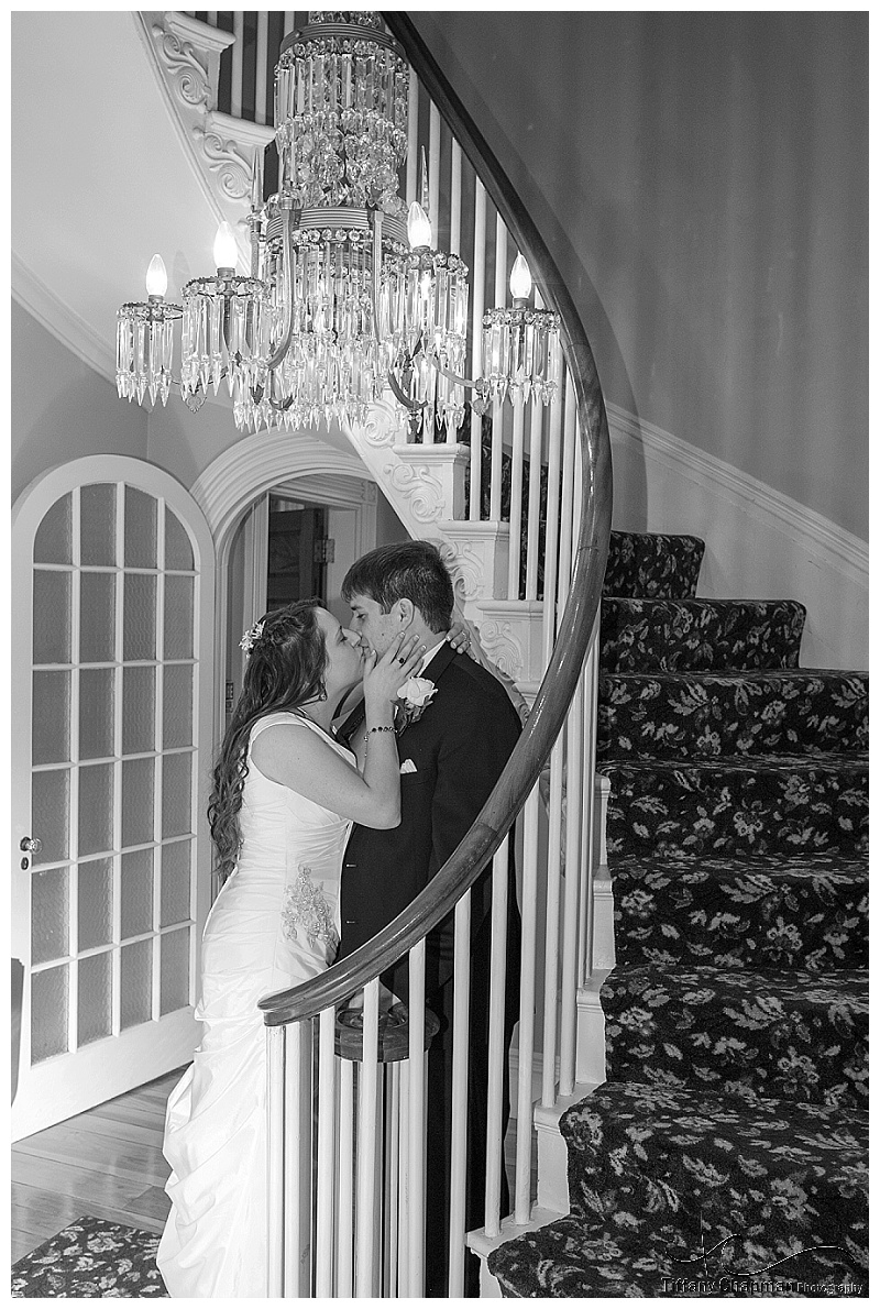 This staircase was definitely my favorite place in the mansion. Obviously Liz and Mike agreed :)