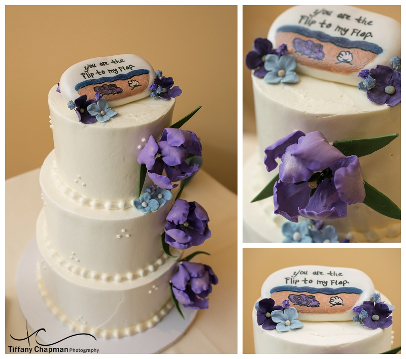The reception was held at Tucker's Restaurant in Southwick, MA. Isn't this cake awesome?