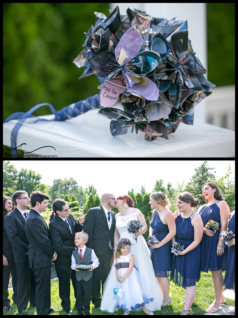 What an awesome idea for a wedding bouquet.  April's bouquet was made out of comic book pages. Such a talented and creative bride!