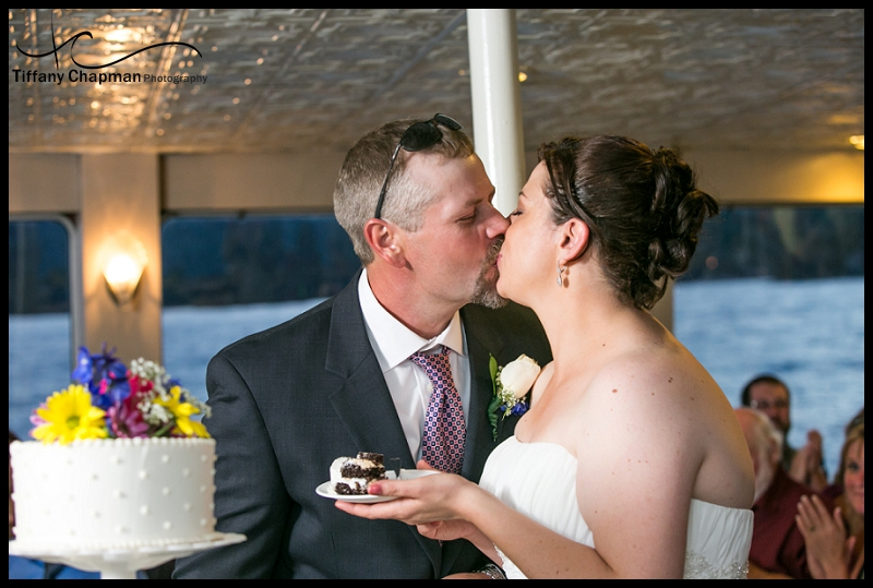 Cake Cutting - Sealing it with a kiss!