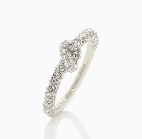 SAILOR'S KNOT PAVE RING US$48.00