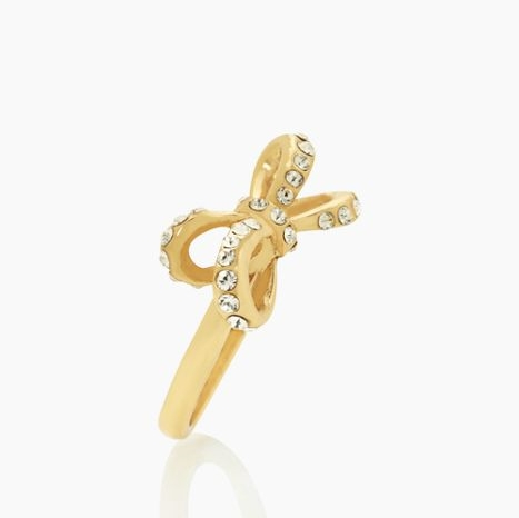 TIED UP PAVE RING US$48.00