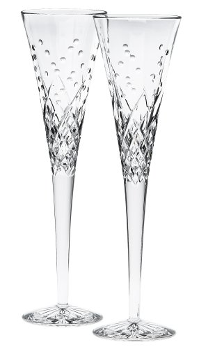 Waterford Crystal Celebration Flutes Happy Flute Pair