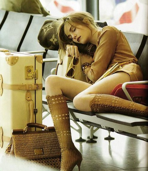 Travel stress free in style: Vogue UK 2011 featuring Louis Vuitton.