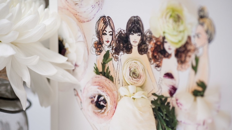 Bridal Inspiration In Illustration
