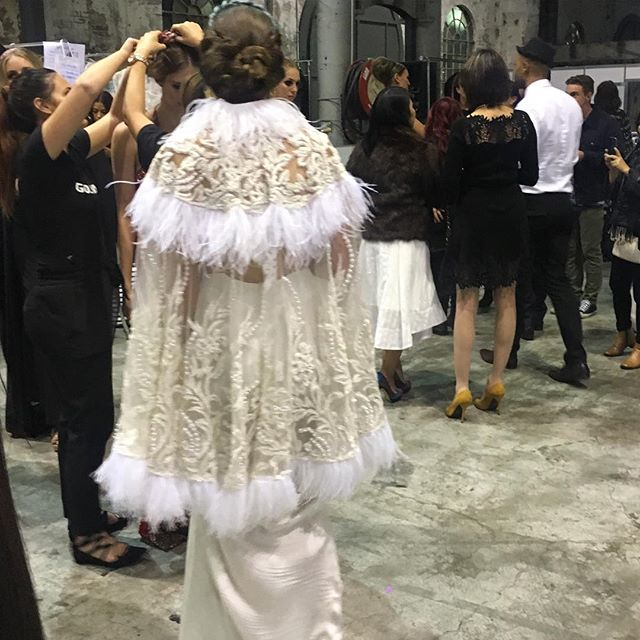 Backstage at Australian Bridal Fashion Week @anastasiasuyantiatelier #kissesandcakeweddings  #bride #weddingplanner #fashionweek #bridal #abrw16 #bridalinspiration