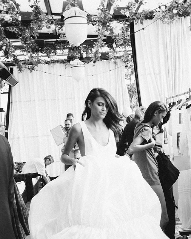 Inspiration of the day, backstage at Delphine Manivet Bridal! #WeddingInspiration #WeddingPlanning #TheBridalCoach #KissesandCake #KissesandCakeWeddings | Image: thelane.com. Photography by Abby Ross.