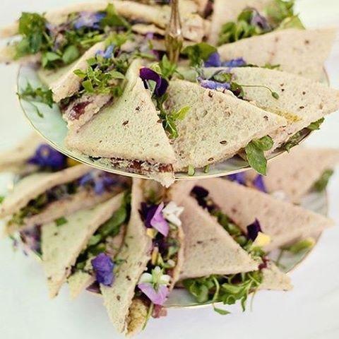 We love these dainty and delightful finger sandwiches, perfect for a wedding cocktail hour. #WeddingInspiration #WeddingPlanning #TheBridalCoach #KissesandCake #KissesandCakeWeddings   Image: Vogue Paris, en.vogue.fr @voguemagazine