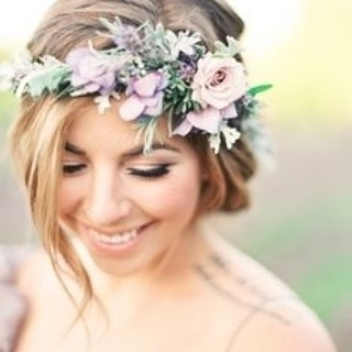 Flower crowns transform a classic bridal look into something ethereal and bohemian. Use this photo for your inspiration! #Flowers #FlowerCrown #Bohemian #Boho #WeddingInspiration #WeddingPlanning #TheBridalCoach #KissesandCake #KissesandCakeWeddings   Image: Julie Paisley Photography via @stylemepretty