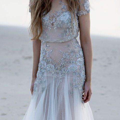 Wedding dress inspiration from this gorgeous sheer number designed by Inbal Dror. #Sheer #Lace #WeddingDress #WeddingInspiration #WeddingPlanning #TheBridalCoach #KissesandCake #KissesandCakeWeddings   Image: @Inbaldrorofficial