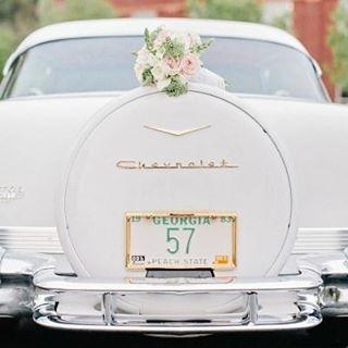 Ride away from your wedding in style! #Chevrolet #Inspiration #WeddingInspiration #WeddingPlanning #TheBridalCoach #KissesandCake #KissesandCakeWeddings   Image: Amy Yarrington Photography