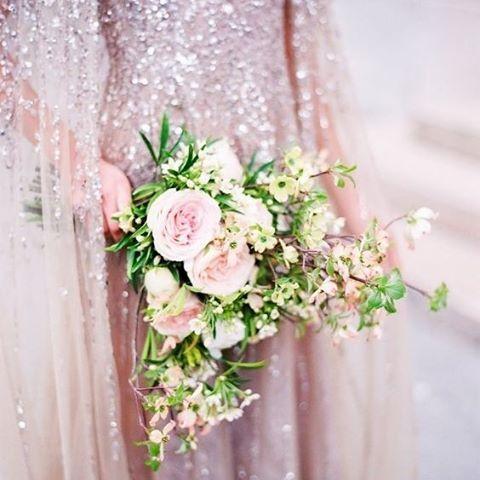 Make your special day magical with a little sparkle and a little floral. #Couture #Haute #Flowers #Sequins #Sparkle #PrettyThings #Weddings #WeddingInspiration #TheBridalCoach #KissesAndCake #KissesAndCakeWeddings | Image: Le Secret D'Audrey via modwedding.com