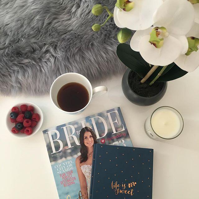 Daily dose of goodness for Kisses & Cake #coffee #raspberries #blueberries #weddingplanner #candles #orchid #texture #bride #love #thursday #bridetobe | 📸 @kissesandcakeweddings